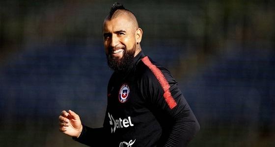 """تجدد إصابة """" فيدال """" خلال تدريبات منتخب تشيلي"""