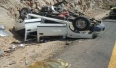 بالصور.. وفاة وإصابة 6 أشخاص في حادث مروري بين بيشة وسبت العلايا