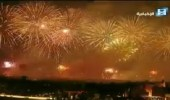 بالفيديو.. الألعاب النارية والبريق الأخضر يدويان في سماء المملكة احتفالًا باليوم الوطني الـ88