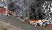 """بالفيديو والصور.. إعصار """" جيبي """" باليابان يحرق 100 سيارة"""