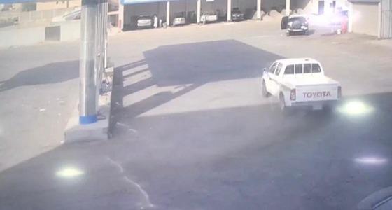 بالصور.. القبض على قائد المركبة الذي مارس التفحيط في محيط محطة