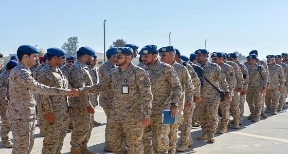 وصول القوات السعودية إلى جمهورية مصر العربية للمشاركة في تمرين درع العرب 1