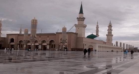 بالفيديو.. أمطار على المدينة المنورة