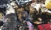 بالصور.. اندلاع حريق في مستودع بسطح منزل في بقيق