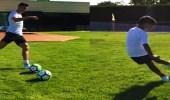 بالفيديو.. جونيور رونالدو يحرز هدفين رائعين على طريقة أبيه