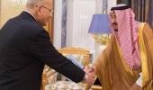 خادم الحرمين الشريفين يستقبل وزير العدل المصري