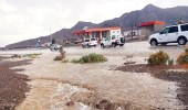أمطار غزيرة على مركز الهجمية بمحافظة أملج