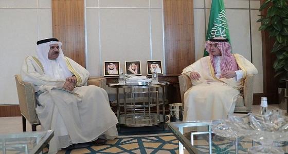 وزير الخارجية يستقبل الأمين العام لمجلس التعاون لدول الخليج العربية