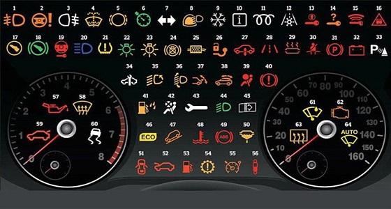 لمبات إذا أضاءت في طبلون السيارة عليك التوقف عن القيادة فورا