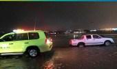 احتجاز 10 أشخاص بسبب الأمطار في الدوادمي