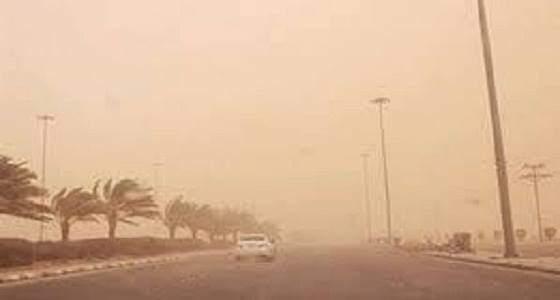 موجة غبار شديدة تضرب الخرج والمراكز التابعة لها