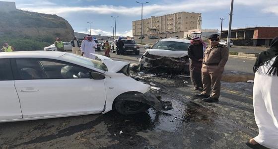 بالصور.. وفاة 4 أشخاص وإصابة 5 آخرين في حادثين منفصلين بالباحة