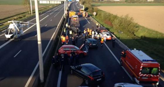 بالفيديو.. موكب تيريزا ماي ونظيرها البلجيكي يتعرض لحادث سير