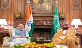 بالصور.. سمو ولي العهد يلتقي دولة رئيس الوزراء الهندي