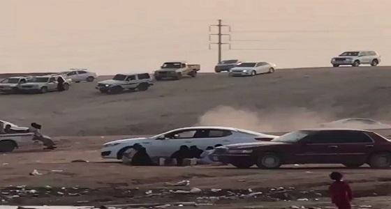 بالفيديو.. التفحيط يعكر فرحة الأهالي بالأجواء الربيعية في حفر الباطن