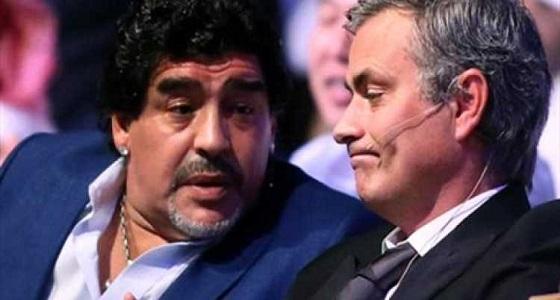 """مارادونا عن """" مورينيو """" : الأفضل في العالم"""