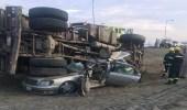 بالصور.. مصرع مواطن دهساً تحت عجلات شاحنة في مكة