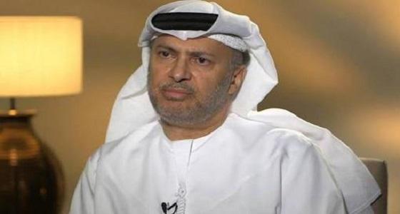 """تعليق """" قرقاش """" على الضغط العسكري الذي مارسته قوات التحالف على الحوثيين"""