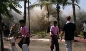 """بالفيديو.. اللحظات الأولى لمداهمة """" تسونامي """" شواطئ إندونيسيا"""