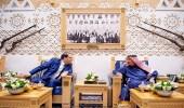 بالصور.. خادم الحرمين يستقبل رئيس الحكومة التونسية ويقيم مأدبة غداء تكريما له