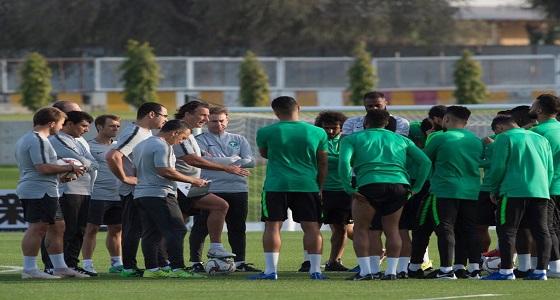 بالصور.. تدريبات الأخضر استعدادًا لملاقاة المنتخب اللبناني
