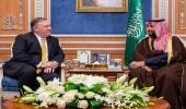 بالفيديو والصور.. سمو ولي العهد يلتقي وزير خارجية أمريكا