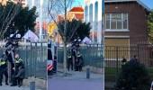 بالفيديو.. أحوازيون يرشقون السفارة الإيرانية في هولندا بالحجارة