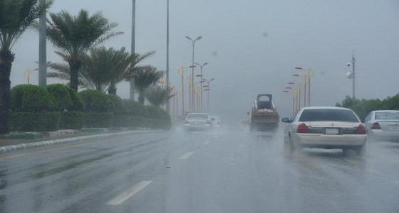 أمطار رعدية ورياح نشطة على 4 مناطق