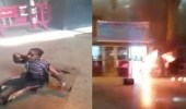 """بالفيديو.. طفلة احترق جسدها تبحث عن جدتها في حريق """" محطة مصر """""""
