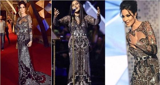 أحلام ترد على الانتقادات التي تعرضت لها بسبب ارتدائها فستان نادين نجيم