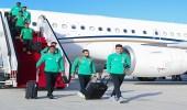 بالصور.. الأخضر يصل أبوظبي استعدادًا لملاقاة الإمارات