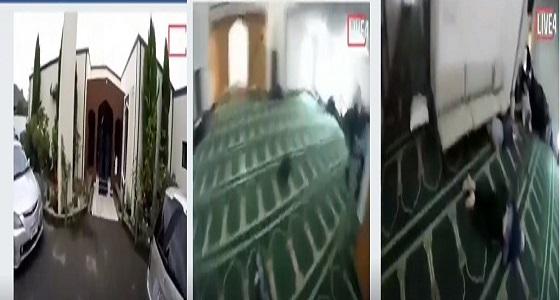 فيديو مرعب يوثق لحظة قتل المصلين في المسجد النيوزيلندي