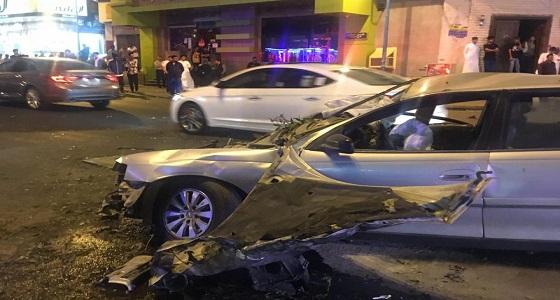 بالصور..حادث تصادم مروع يسفر عن مصرع مقيم في فيصلية الطائف