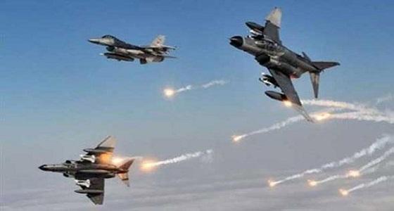 """طيران التحالف يقصف مجموعة من حراسات """" عبدالملك الحوثي """""""