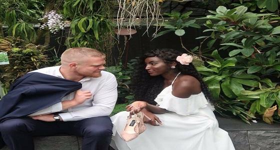 بالفيديو.. عبير سندر تحتفل بزفافها على مدرب الفنون القتالية البريطاني