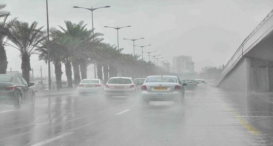 أمطار ورياح مثيرة للأتربة على 10 مناطق