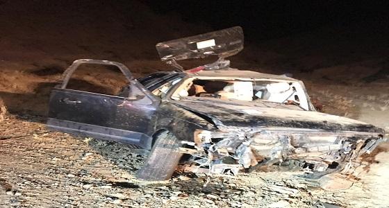وفاة وإصابة 3 أشخاص في حادث انقلاب بالباحة
