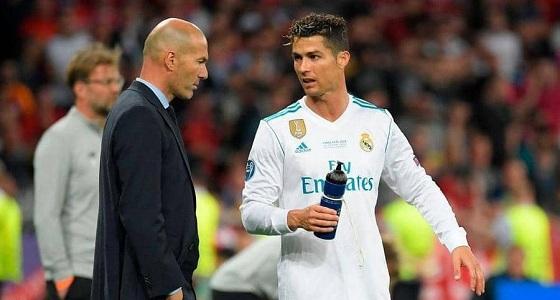 زيدان حزين على فقدان ريال مدريد لرونالدو