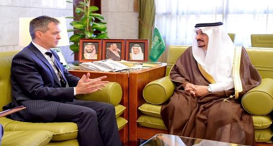 أمير منطقة الرياض يستقبل سفير البرازيل لدى المملكة