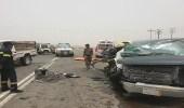 بالصور.. إصابة 7 معلمات ومواطن في حادث مروري بطريق غميقة - العين الحارة