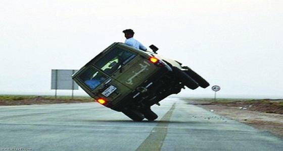 """المرور: إمالة المركبة يُعد في حكم """" التفحيط """""""