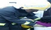 احتجاز طفلة داخل نشافة غسالة ملابس في خميس مشيط