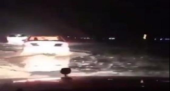 """فتح طريق """" الرياض - الطائف """" بعد ساعات من إغلاقه"""