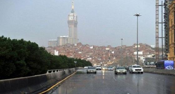 تنبيه.. هطول أمطار رعدية على مكة المكرمة