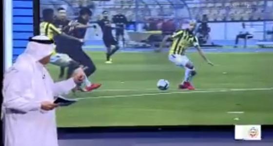 بالفيديو.. محمد فودة: لاتوجد مخالفة في سقوط مهاجم النصر داخل منطقة الجزاء