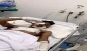بالصور.. عزيمة بطل من الحد الجنوبي تجعله يؤدي التحية العسكرية رغم إصابته البالغة