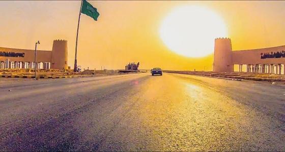الرياح تضرب طريق الطائف - الرياض