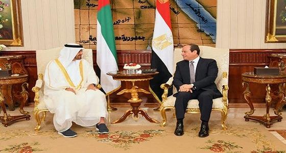 السيسي: نقف بجانب السعودية والإمارات.. محمد بن زايد: التنسيق العربي ضروري