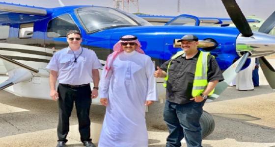 بعد 47 ساعة طيران.. وصول طائرة الأمير سلطان بن سلمان الخاصة من أمريكا (فيديو)
