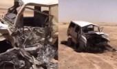 بالفيديو.. وفاة 6 مواطنين في حادث مروع برفحاء